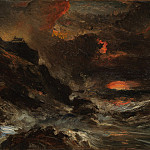 Metropolitan Museum: part 3 - Eugène Isabey - A Storm off the Normandy Coast
