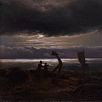 Johan Christian Dahl – Mother and Child by the Sea, Metropolitan Museum: part 3