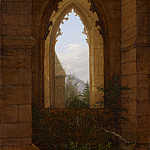 Metropolitan Museum: part 3 - Carl Gustav Carus - Gothic Windows in the Ruins of the Monastery at Oybin
