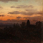 Carl Gustav Carus – Landscape at Sunset, Metropolitan Museum: part 3