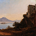 Franz Ludwig Catel – The Bay of Naples with Vesuvius and Castel dell'Ovo, Metropolitan Museum: part 3