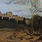 Camille Corot – View of Genzano with a Rider and Peasant, Metropolitan Museum: part 3