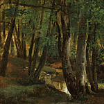 Robert-Léopold Leprince – Interior of a Wood at Pierrefitte, Metropolitan Museum: part 3