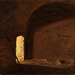 Wilhelm Bendz – Study of Light in a Vaulted Interior, Metropolitan Museum: part 3