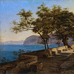 Heinrich Reinhold – Terrace of the Capuchin Garden, Sorrento, Metropolitan Museum: part 3