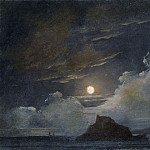 Pierre-Henri de Valenciennes or Circle – Ischia and the Bay of Naples by Moonlight, Metropolitan Museum: part 3