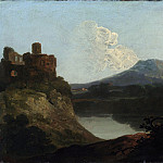 Richard Wilson – Welsh Landscape with a Ruined Castle by a Lake, Metropolitan Museum: part 3