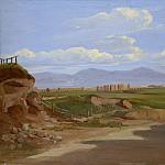 Ernest-Joachim Dumax – View in the Roman Campagna, Metropolitan Museum: part 3