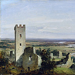 Metropolitan Museum: part 3 - Carl Rottmann - River Landscape with Castle Ruins