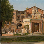 Metropolitan Museum: part 3 - Christoffer Wilhelm Eckersberg - A Section of the Via Sacra, Rome (The Church of Saints Cosmas and Damian)