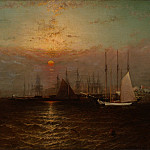 Metropolitan Museum: part 3 - G. Baker - New York Harbor with Brooklyn Bridge