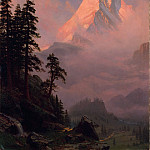 Albert Bierstadt – Sunrise on the Matterhorn, Metropolitan Museum: part 3