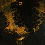 Metropolitan Museum: part 3 - Ralph Albert Blakelock - A Waterfall, Moonlight