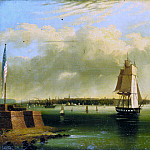Metropolitan Museum: part 3 - Attributed to Edmund C. Coates - Bay and Harbor of New York from Bedlow's Island