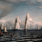 Metropolitan Museum: part 3 - Samuel Colman - Finish—First International Race for America's Cup, August 8, 1870