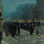 Broadway and 42nd Street, Childe Frederick Hassam