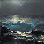 Moonlight, Wood Island Light, Winslow Homer