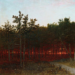 Twilight in the Cedars at Darien, Connecticut, John Eder