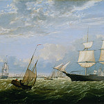 Metropolitan Museum: part 3 - Fitz Henry Lane (1804–1865) - The Golden State Entering New York Harbor