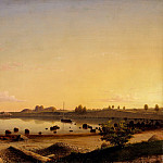 Metropolitan Museum: part 3 - Fitz Henry Lane (1804–1865) - Stage Fort across Gloucester Harbor