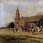 Alfred Wordsworth Thompson – Old Bruton Church, Williamsburg, Virginia, in the Time of Lord Dunmore, Metropolitan Museum: part 3
