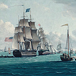 Thomas Thompson – The U. S. Ship Franklin, with a View of the Bay of New York, Metropolitan Museum: part 3