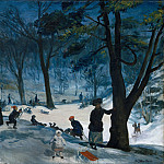 William Glackens – Central Park, Winter, Metropolitan Museum: part 3