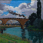 Armand Guillaumin – Railroad Bridge over the Marne at Joinville, Metropolitan Museum: part 3