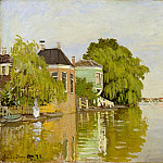 Houses on the Achterzaan, Claude Oscar Monet