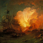 Phillip James De Loutherbourg - The Battle of the Nile, Tate Britain (London)