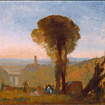 Joseph Mallord William Turner - Italian Landscape with Bridge and Tower, Tate Britain (London)