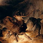 Sir Edwin Henry Landseer - Deer and Deer Hounds in a Mountain Torrent, Tate Britain (London)