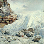 John Brett – Glacier of Rosenlaui, Tate Britain (London)