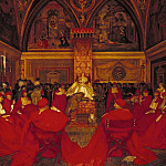 Tate Britain (London) - Frank Cadogan Cowper - Lucretia Borgia Reigns in the Vatican in the Absence of Pope Alexander VI