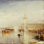 Joseph Mallord William Turner - The Dogano, San Giorgio, Citella, from the Steps of the Europa, Tate Britain (London)