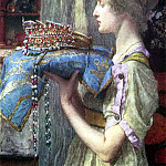 Lawrence Alma-Tadema - A Crown by Alma-Tadema