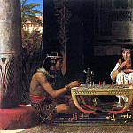 Egyptian chess players, Lawrence Alma-Tadema