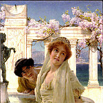 A difference of opinion, Lawrence Alma-Tadema