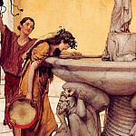 Lawrence Alma-Tadema - Between Venus and Bacchus