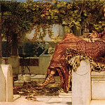 Lawrence Alma-Tadema - The Conversion of Paula by St Jerome