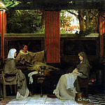 Venantius Fortunatus reading his poems to Radegonda VI, Lawrence Alma-Tadema