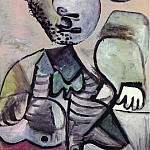 1972 Homme assis accoudВ [Mousquetaire], Pablo Picasso (1881-1973) Period of creation: 1962-1973