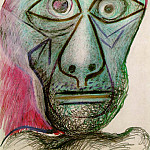 1972 autoportrait face Е la mort, Pablo Picasso (1881-1973) Period of creation: 1962-1973