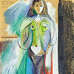 Pablo Picasso (1881-1973) Period of creation: 1962-1973 - 1970 Nu debout