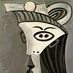 Pablo Picasso (1881-1973) Period of creation: 1962-1973 - 1962 TИte de femme 7