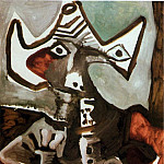 Pablo Picasso (1881-1973) Period of creation: 1962-1973 - 1972 Homme assis