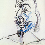 1969 TИte dhomme 8, Pablo Picasso (1881-1973) Period of creation: 1962-1973