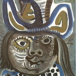 1972 TИte dhomme au chapeau 2, Pablo Picasso (1881-1973) Period of creation: 1962-1973