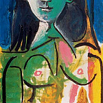 Pablo Picasso (1881-1973) Period of creation: 1962-1973 - 1963 Portrait de Jacqueline
