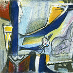 Pablo Picasso (1881-1973) Period of creation: 1962-1973 - 1963 Latelier- le peintre et son modКle V